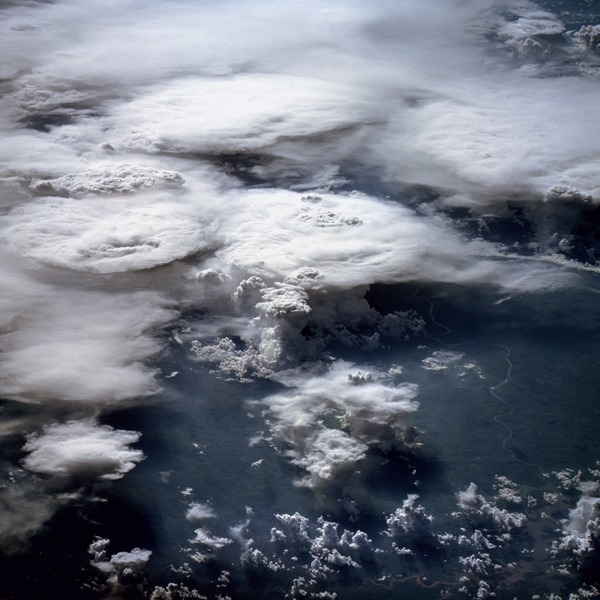 Nubes cubriendo el amazonas