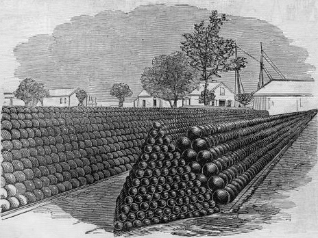 Fortres_Monroe_1861_-_Cannon-balls