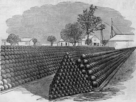 Fortres_Monroe_1861_-_Cannon-balls