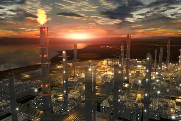 Refinería petroquímica