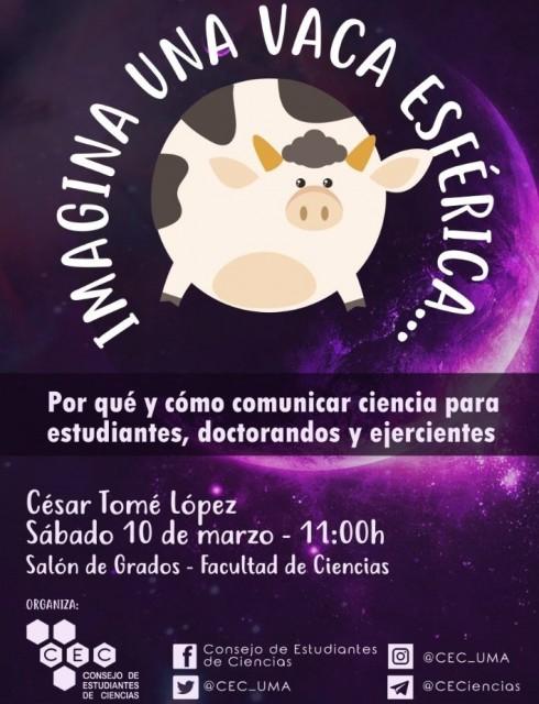 Conferencia en #Málaga: Imagina una vaca esférica...